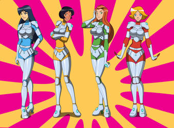 Comm - Totally spies new suits by dlobo777