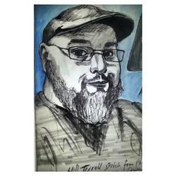 Will Terrell Fan Art Portrait by NickByDeath