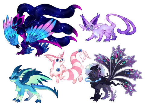 Sketched Poke'hybrid OC Commissions - batch 15 by Fumi-LEX