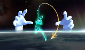 SSBB Snapshot - Tabuu, Master Hand, n Crazy Hand by WhiteBlade-the-Zero