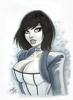 Elizabeth from Bioshock by PatrickFinch