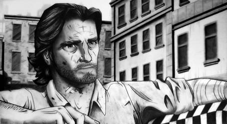 A Wolf Among Us - Bigby Drawing by TricepTerry