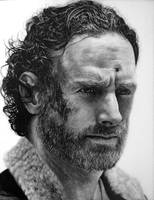 Rick Grimes Drawing - The Walking Dead by TricepTerry