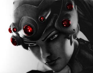 Widowmaker - Overwatch Pencil Portrait by TricepTerry