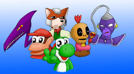 favorite game charas by Rainbow-Boa