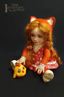 Teddydoll. Foxy and her chick by LanaIncantata