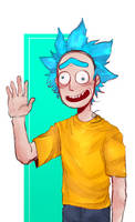 A Little Doodle of Morty!Rick by Twitchy-Senpai