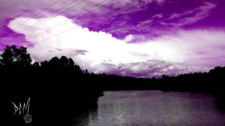Dark lake (Violet skies) by Dee-Morgan999