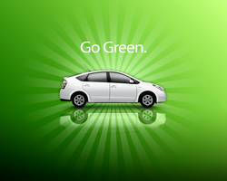 Prius Go Green wallpaper by furiousfelinefuries