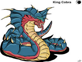 Godzilla animated: King Cobra by Blabyloo229