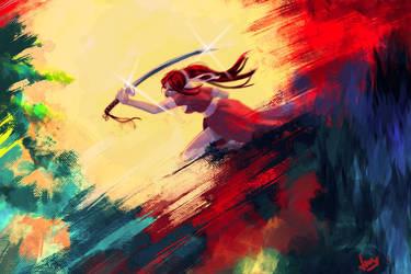 Blood Moon Warrior by akaibelier