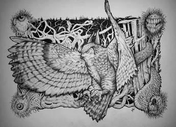 Demon Owl by mrkore