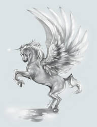 Unicorn with Wings by TheShock
