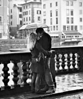 kissing in the rain by myraincheck