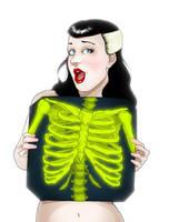 Radioactive Kittie Xray by paulorocker