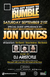 Jones vs Gustafsson Afterparty Poster by rjartwork