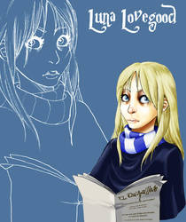 Luna Lovegood in color by Lelia