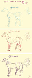 How I draw a horse by Lelia