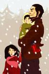 Hale family Xmas time by Lelia