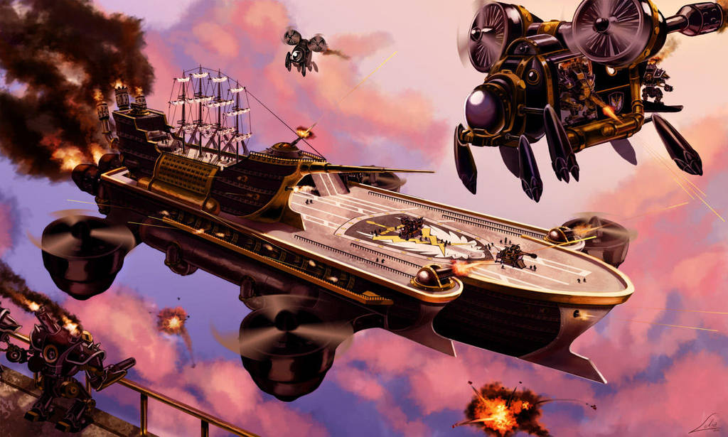 Commission: Steamcarrier- Brigade XIII by Lelia