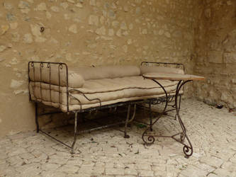 Vintage bed and table by A1Z2E3R