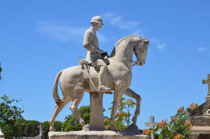 French rider soldier of 1st World War statue by A1Z2E3R