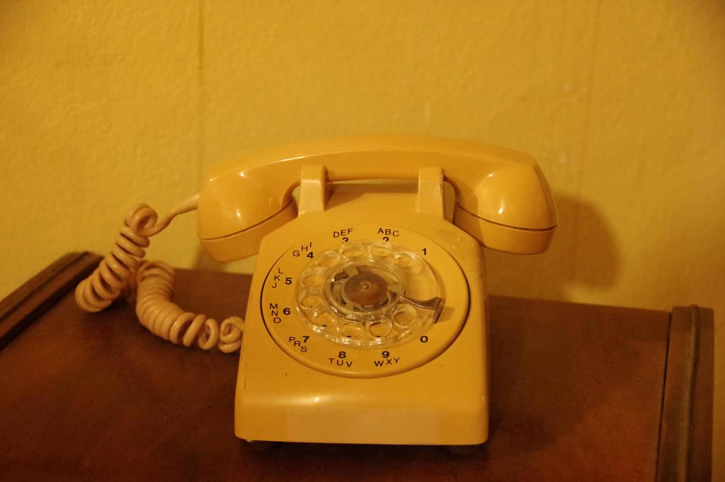 Vintage rotary phone by A1Z2E3R