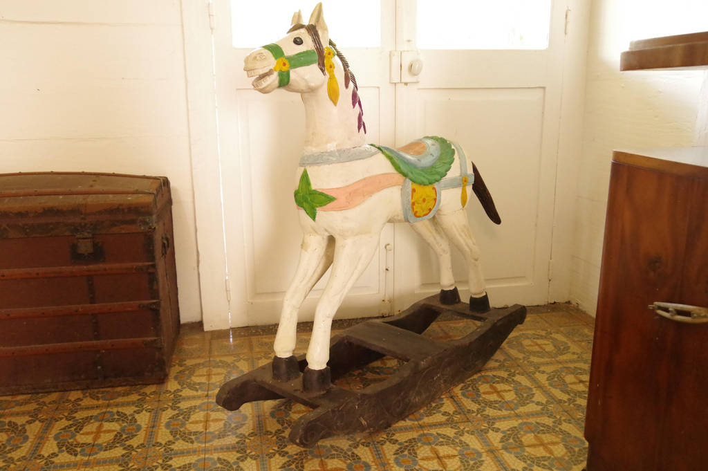 Vintage wooden rocking horse by A1Z2E3R