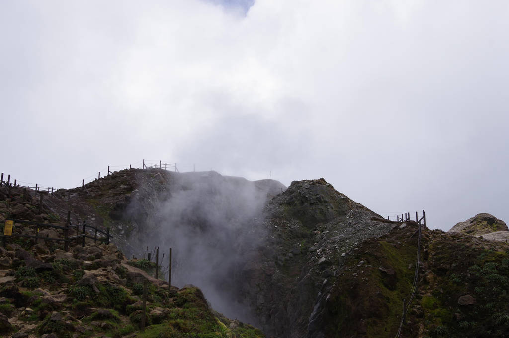 Abyss Dupuy one of crater of the Soufriere volcano by A1Z2E3R