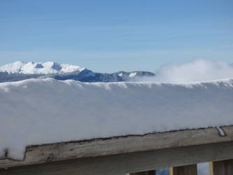 Snowy balcony and the snowy Chartreuse Massif by A1Z2E3R