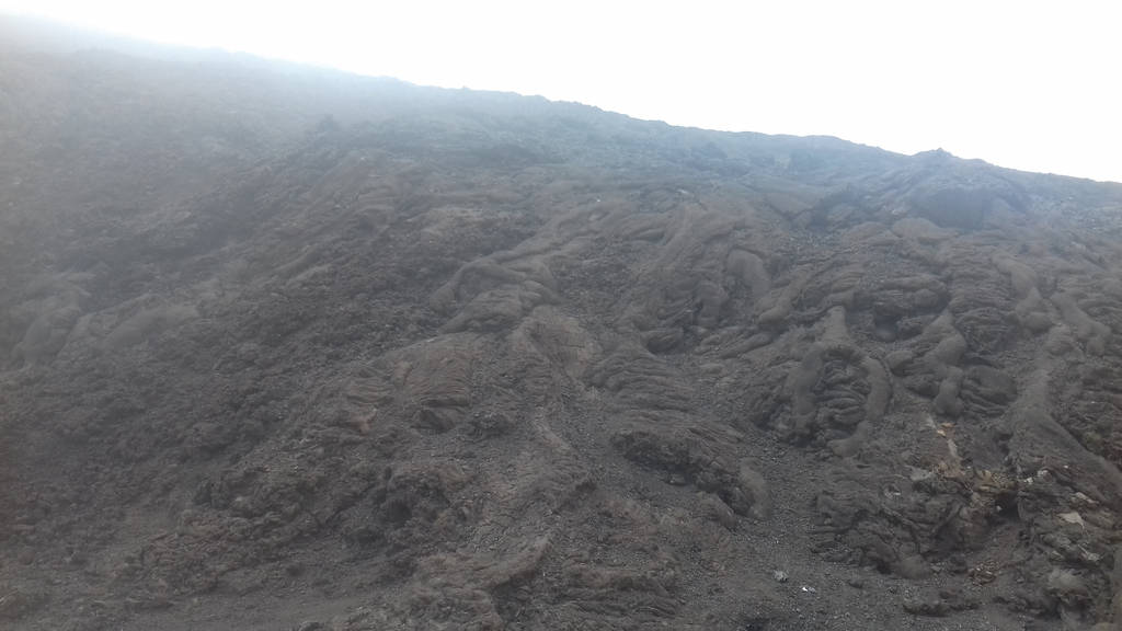 Foggy old lava flow of Fournaise volcano by A1Z2E3R