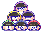 Osomatsu-san Tsum Tsum Icons by Kiss-the-Iconist