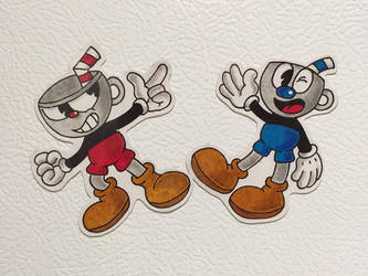 Cuphead and Mugman Magnets by Kiss-the-Iconist