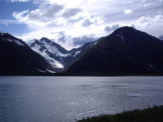 Glacier in Whittier, AK by Vispir