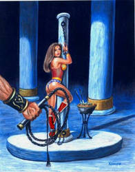 Wonder Woman Prepares for a Whipping by WonderSlave