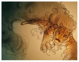TwilightTiger commission WIP1 by ZombieHun