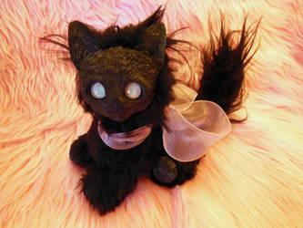 Black Zombie Kitten sitting by ZombieHun