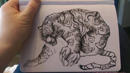 tiger sketch by ZombieHun