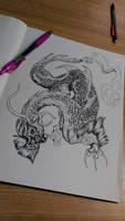 Dragon pen art 01 by ZombieHun