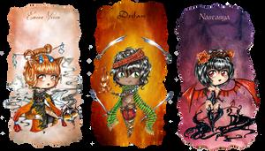 .Oc. Chibi ~ Spirit Daemon  ~ by Linelana