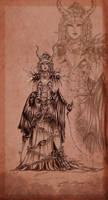 .Oc. Mercurine ~ Dragon Witch by Linelana