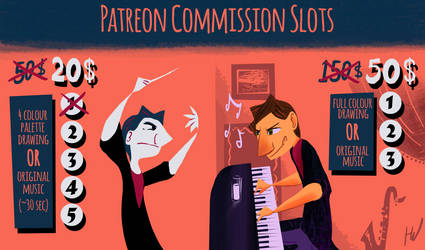 Patreon Commission Slots by HugoJunstrand
