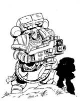 Iron Dragons: Heavy Bolter by NachoMon