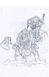 Cover art sketch by NachoMon