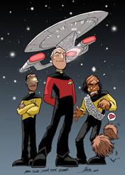 Star Trek 25 years by NachoMon