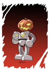 Pumpkin Robot by NachoMon
