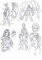 Man of Steel sketches3 by NachoMon