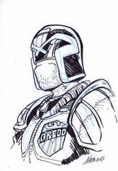Inktober1: Dredd by NachoMon