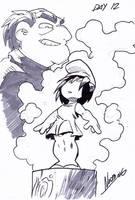 Inktober day 12 : that little blue lovely doll by NachoMon