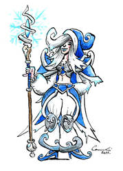 Jaina The Frost Mage by Clone-Artist